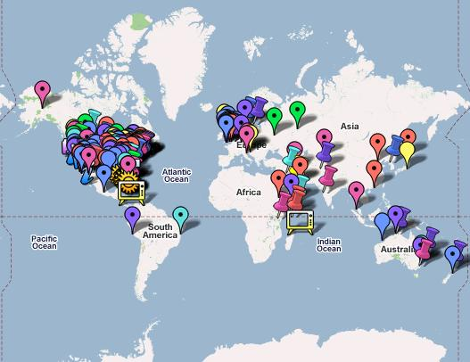 The Fark Map is a map full of all the recent news stories detailed up on Fark